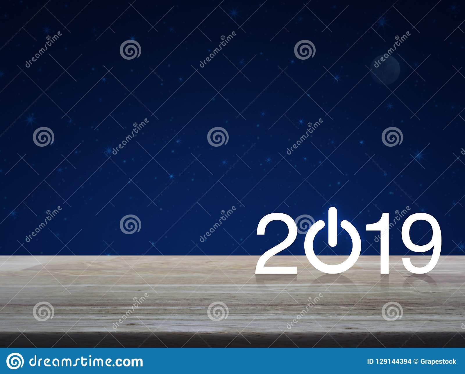 新年快乐2019年概念