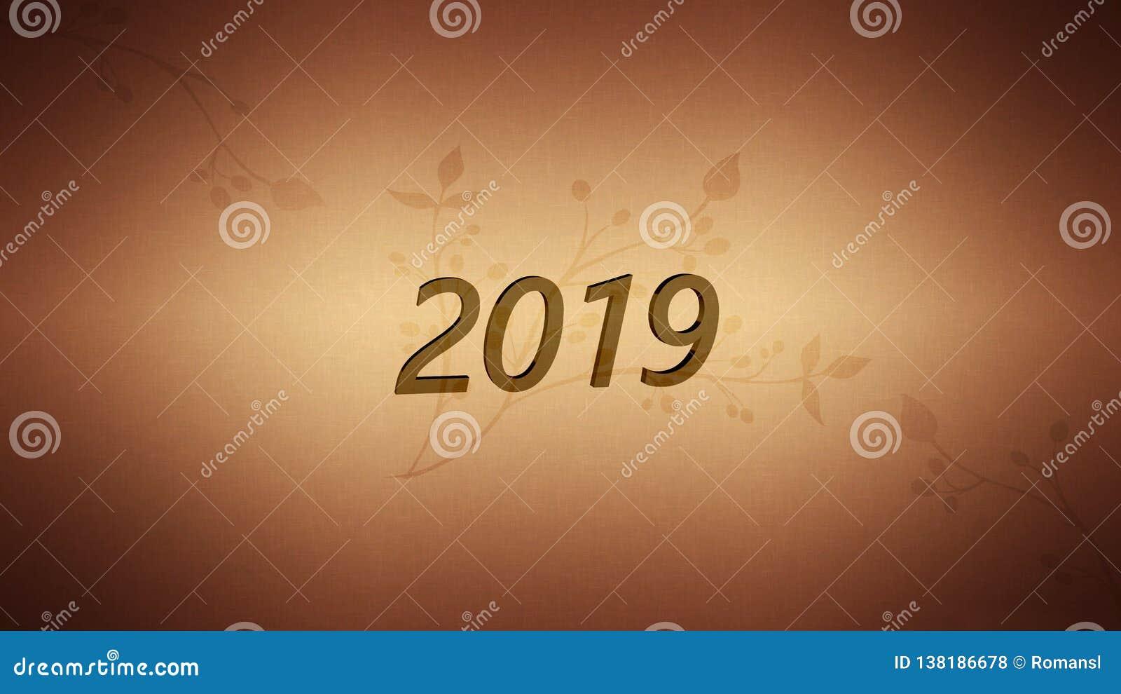 新年2019年决议概念 在葡萄酒活版木头类型块的词摘要反对难看的东西背景