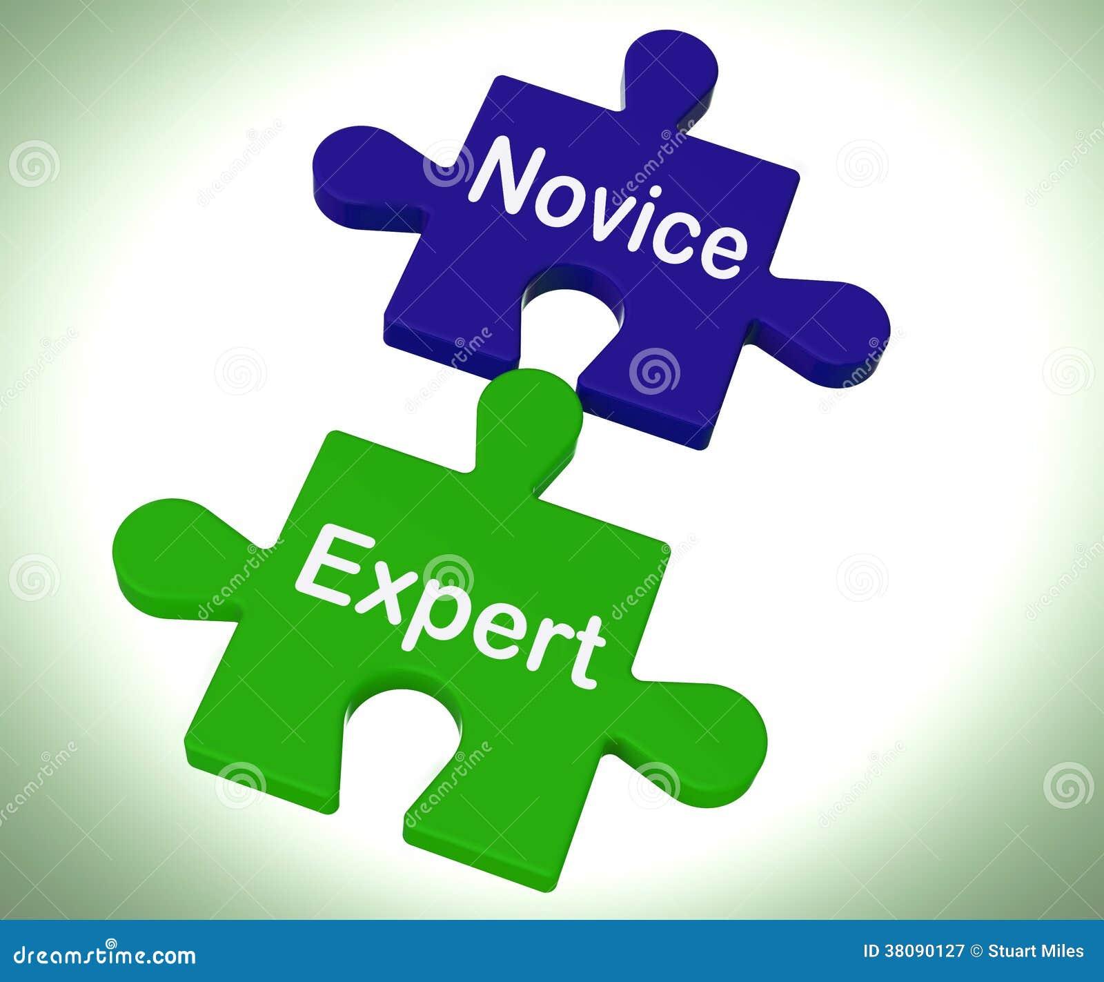 新手专家的难题显示不熟练和专业
