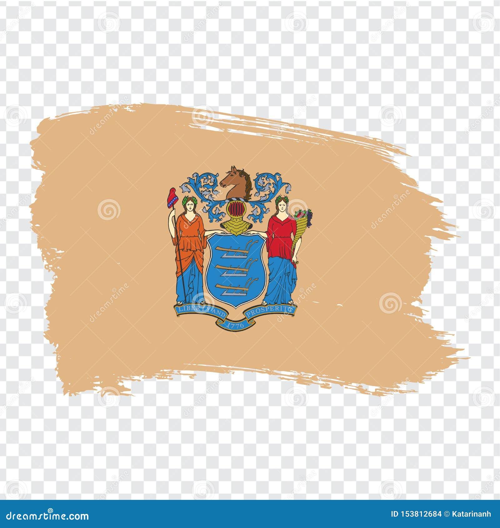 新泽西的旗子从刷子冲程的 ?? 在透明背景的旗子新泽西您的网站desi的