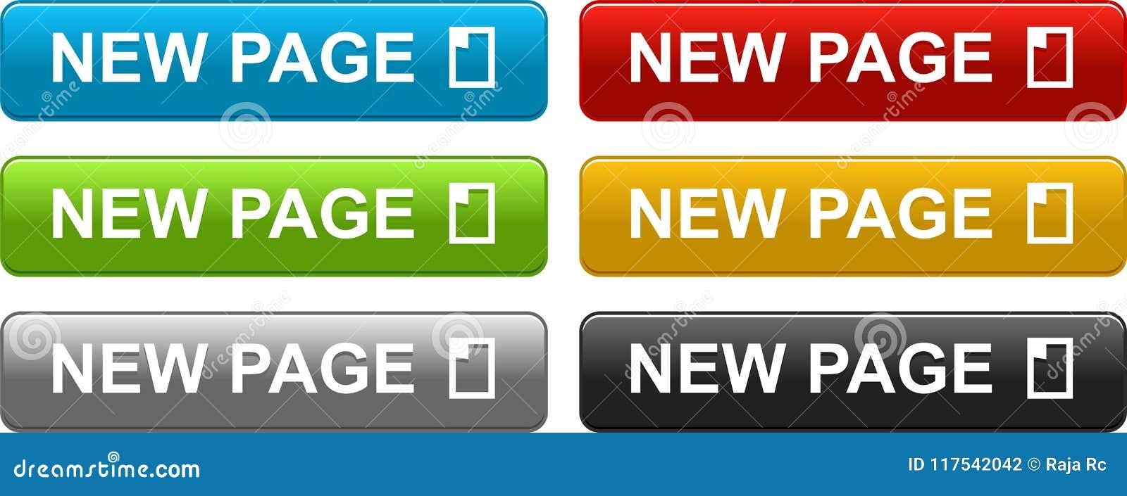新的页按五颜六色在白色