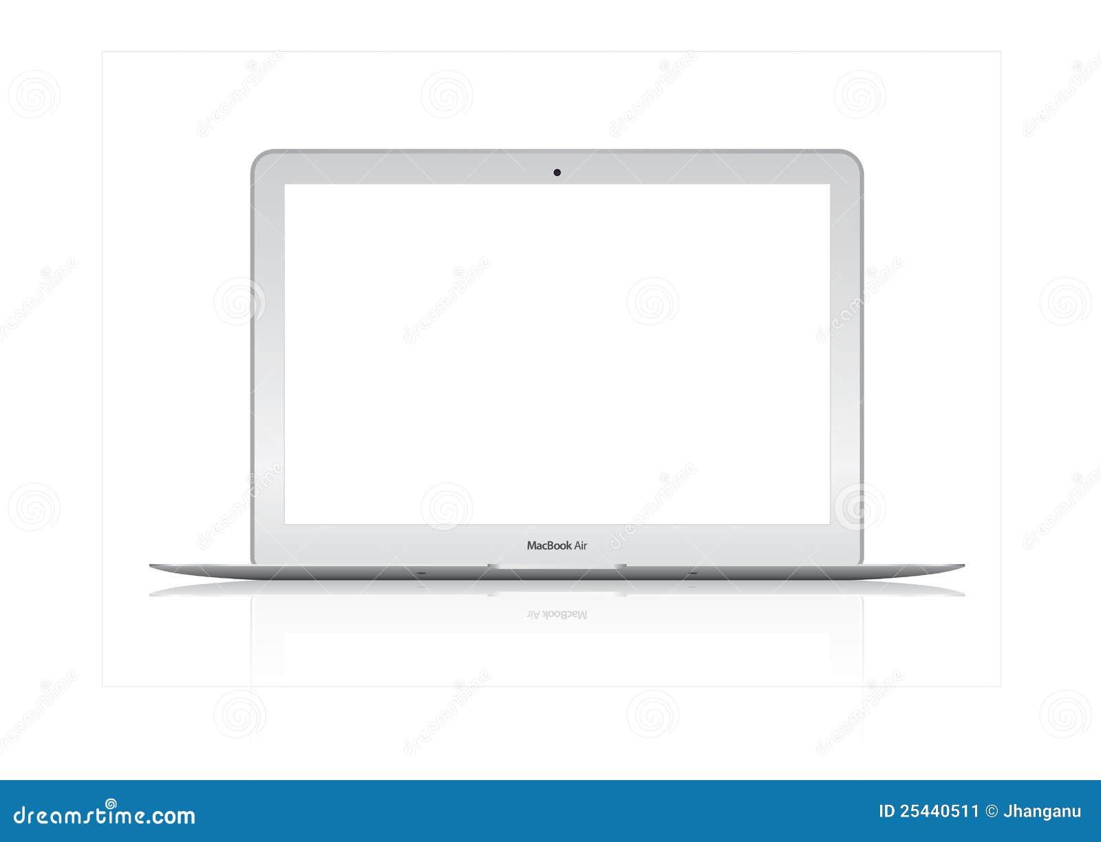 新的2012年Apple Mac书航空膝上型计算机的例证