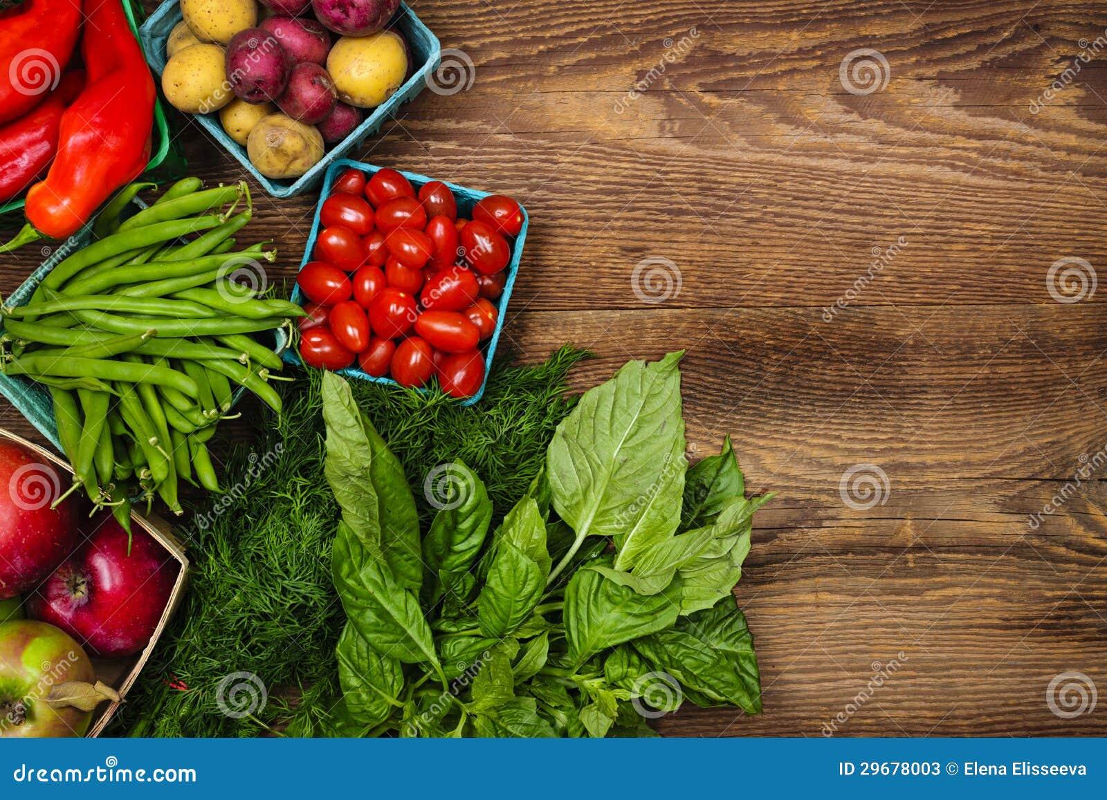 新鲜市场水果和蔬菜