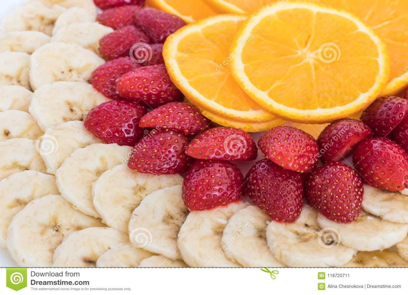 新鲜水果的五颜六色的混合