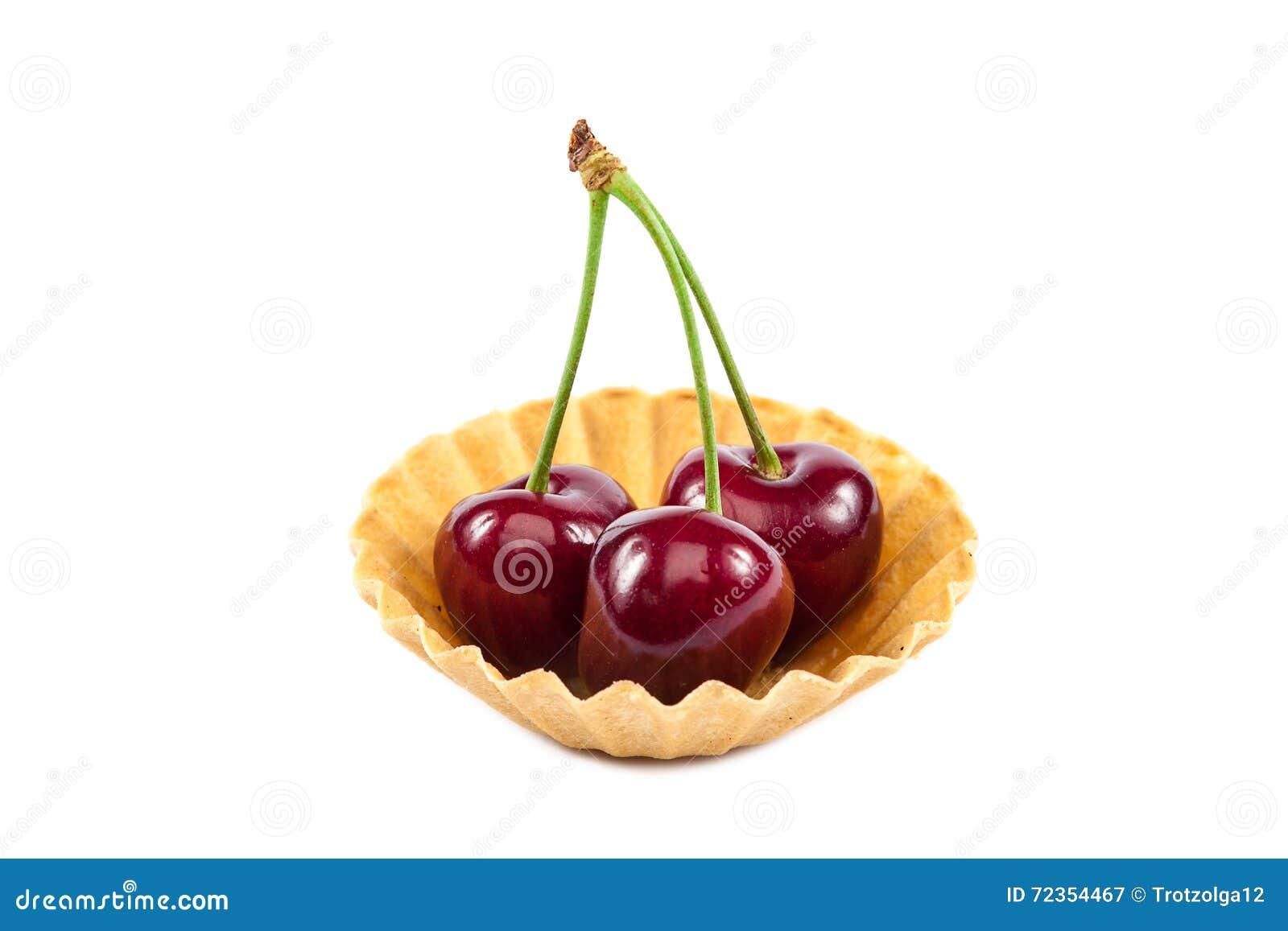新鲜的一个甜樱桃果子