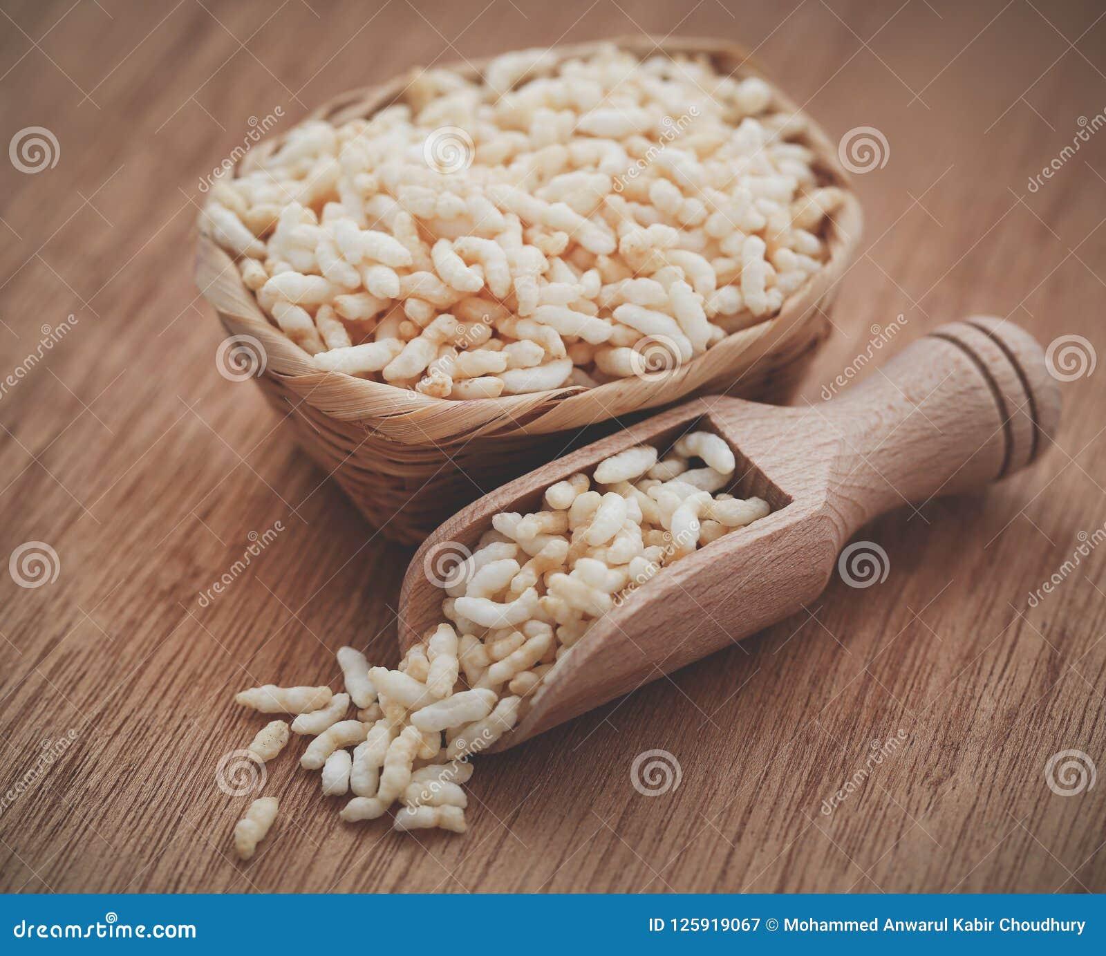 新鲜的喘气的米