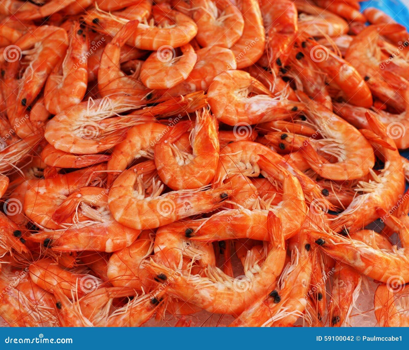 新鲜的大虾