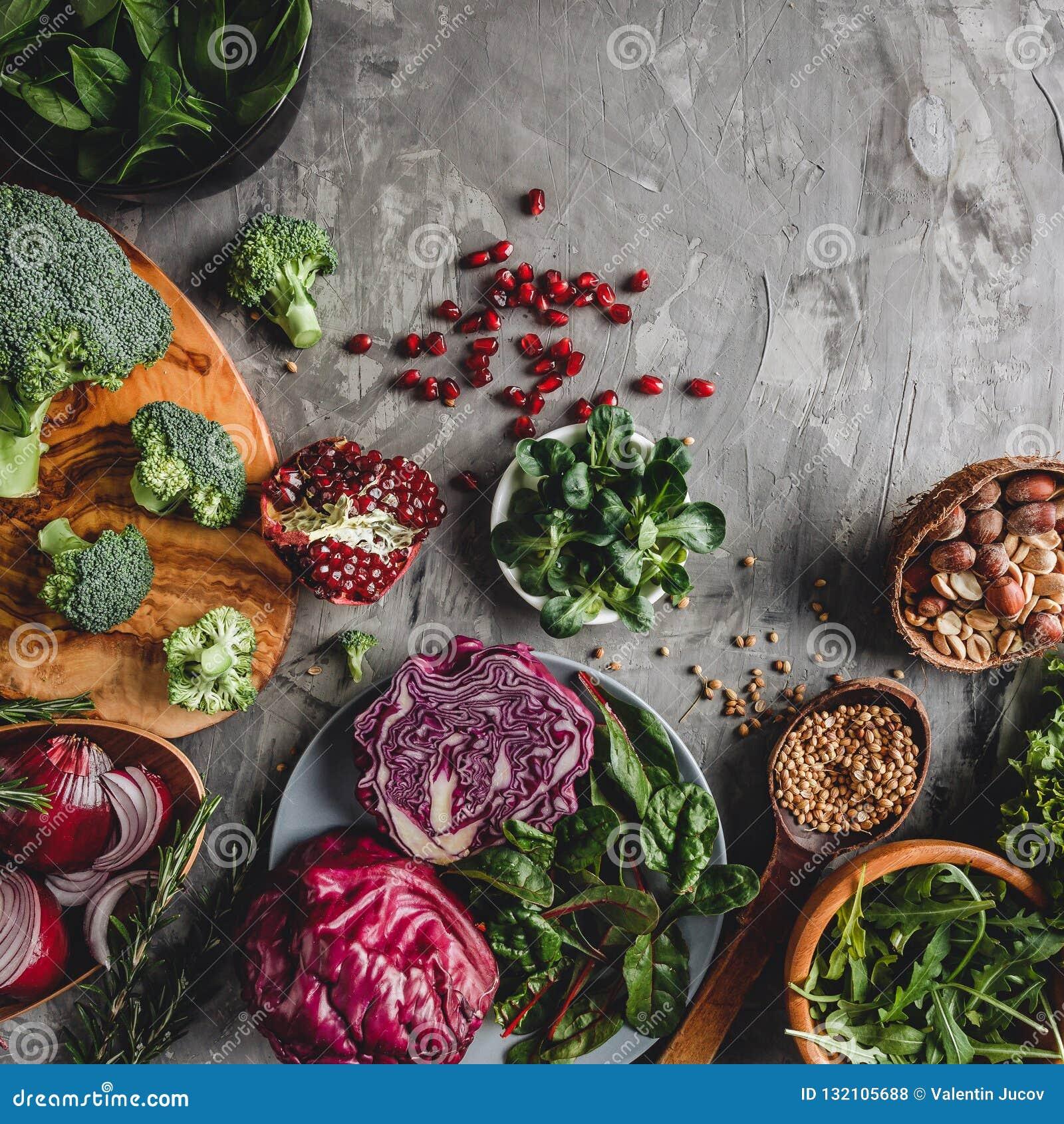 新鲜的有机农夫菜食物的分类烹调的素食主义者素食饮食和营养