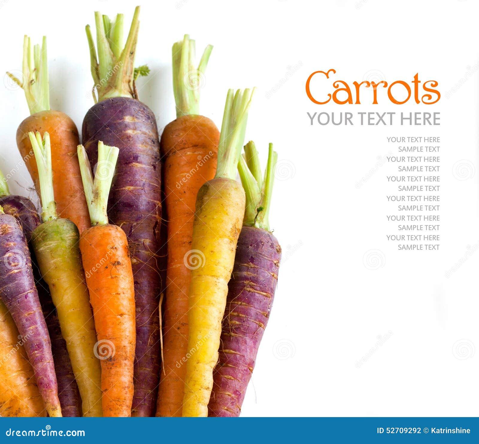 新鲜的有机彩虹红萝卜