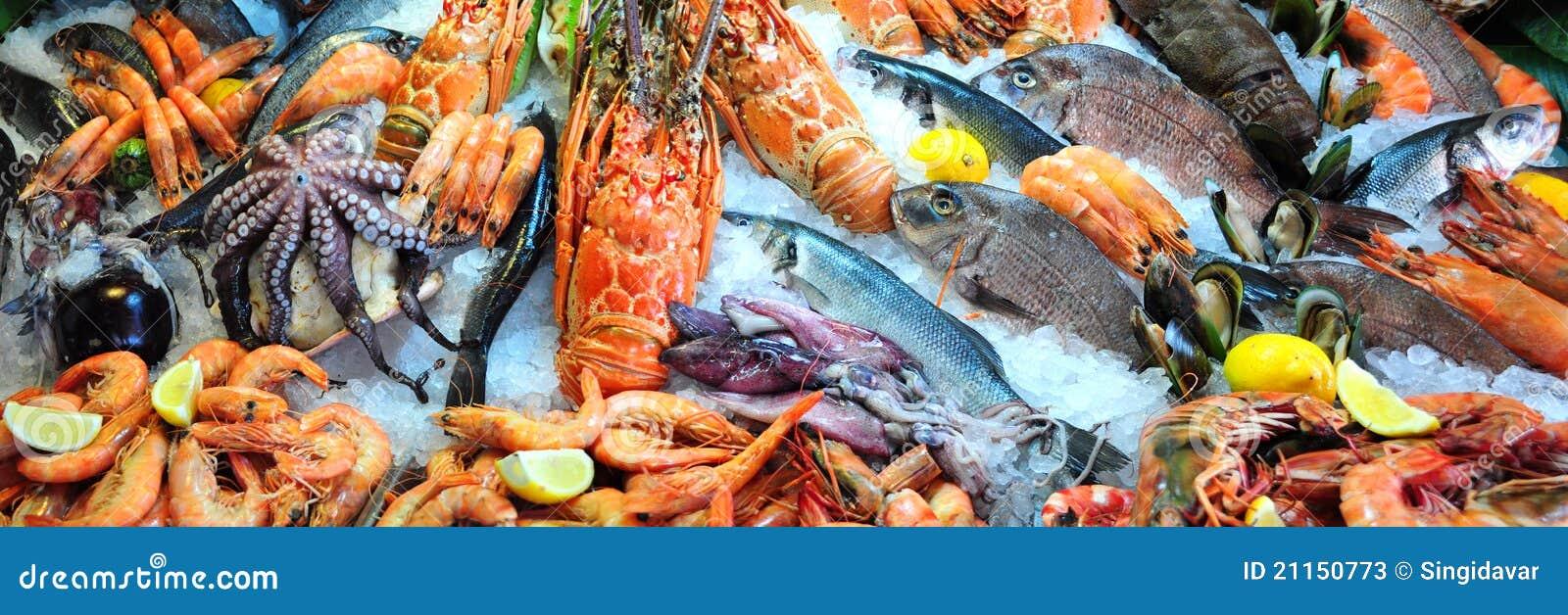 新鲜的海鲜