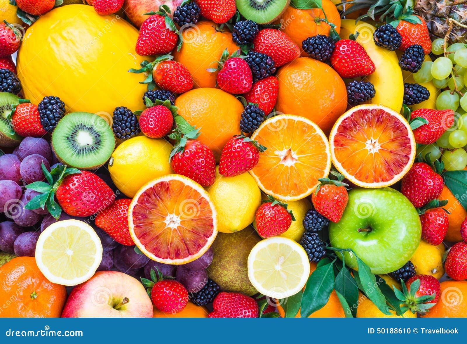 新鲜的混杂的果子