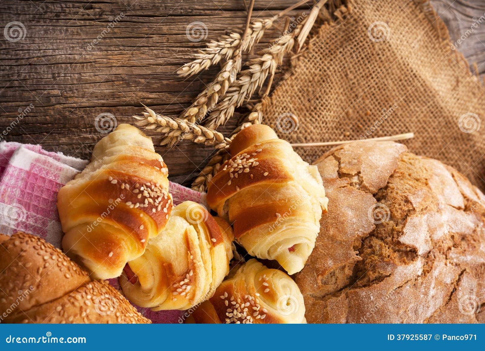 新鲜的面包店产品