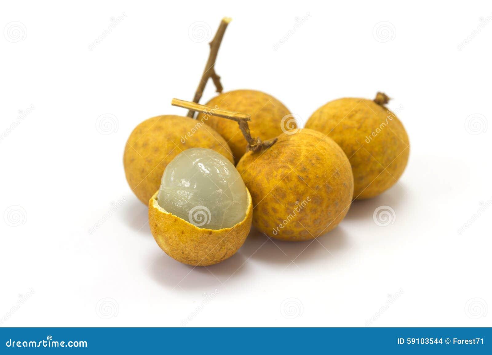 新鲜的龙眼果子