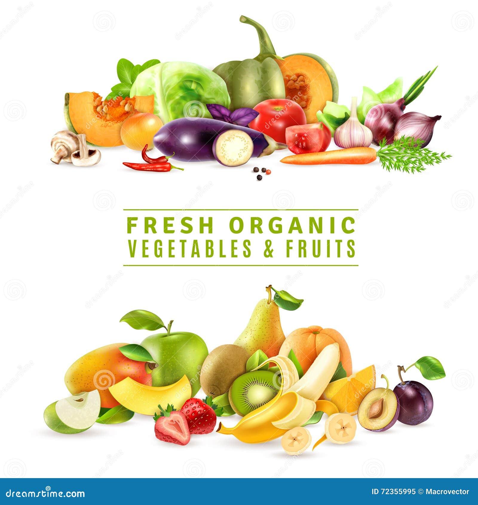 新鲜蔬菜和果子设计观念