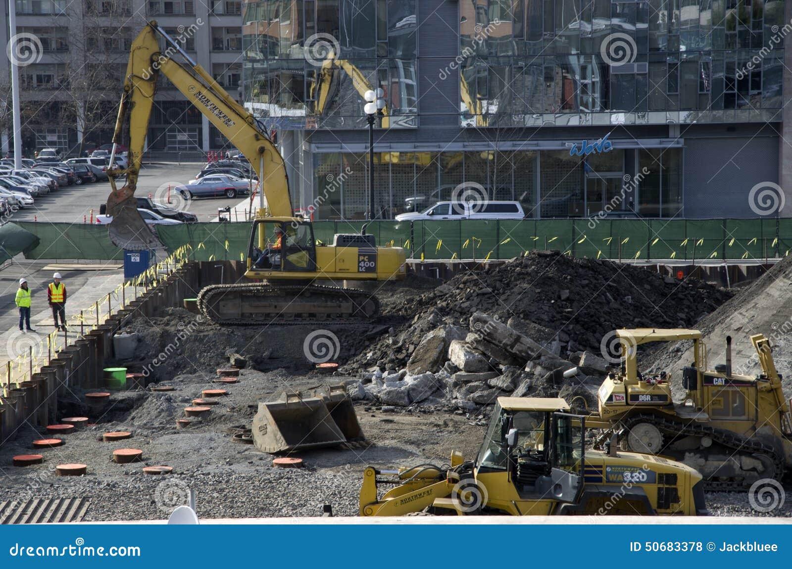 Download 新建工程站点 编辑类库存照片. 图片 包括有 工作者, 建筑, 西雅图, 开掘, 起重机, 的treadled - 50683378