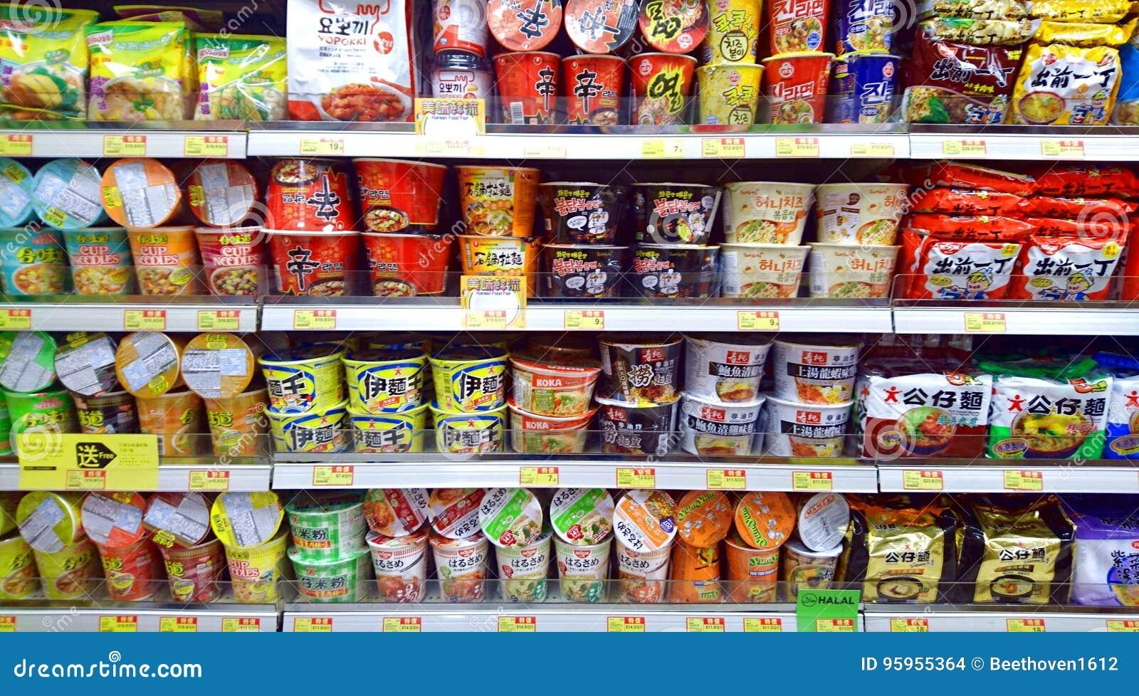 方便面在超级市场