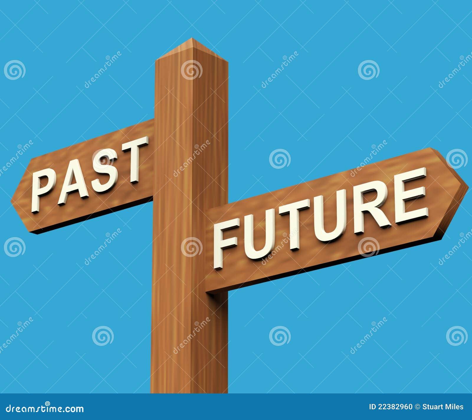 方向将来的过去路标