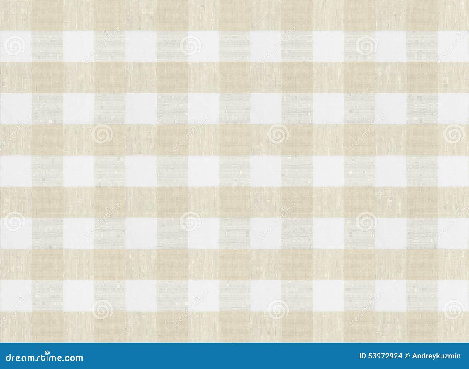 方格的棕色桌布或织品纹理