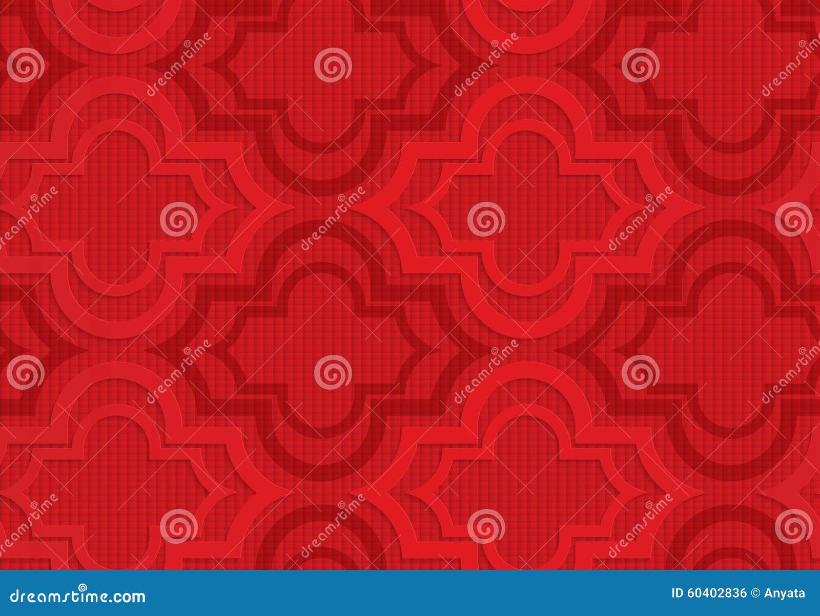 方格的背景的红色马拉喀什