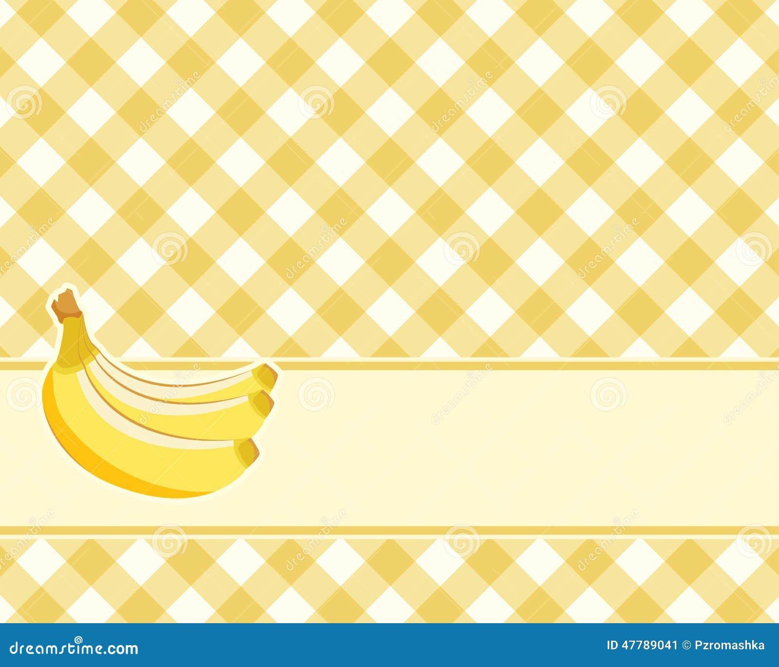 黄色网址黄色笑�_方格的黄色背景用香蕉 向量 仿制桌布.