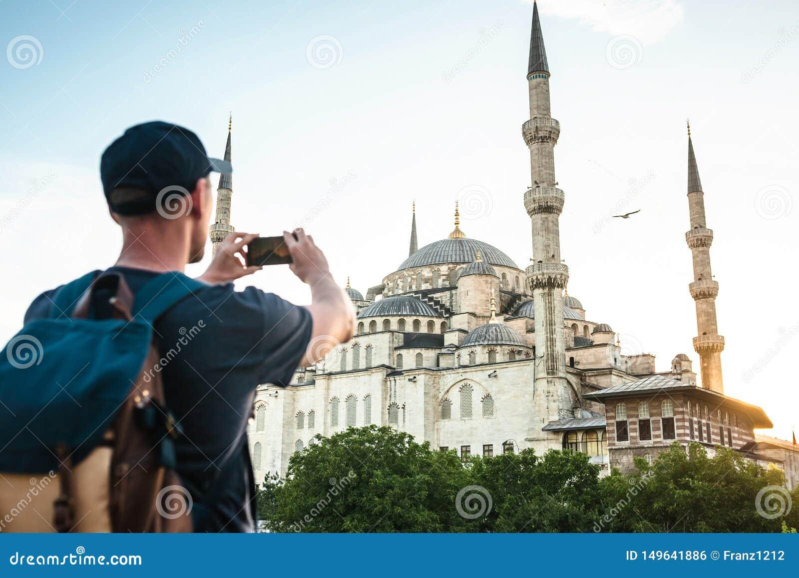 旅游照片蓝色清真寺