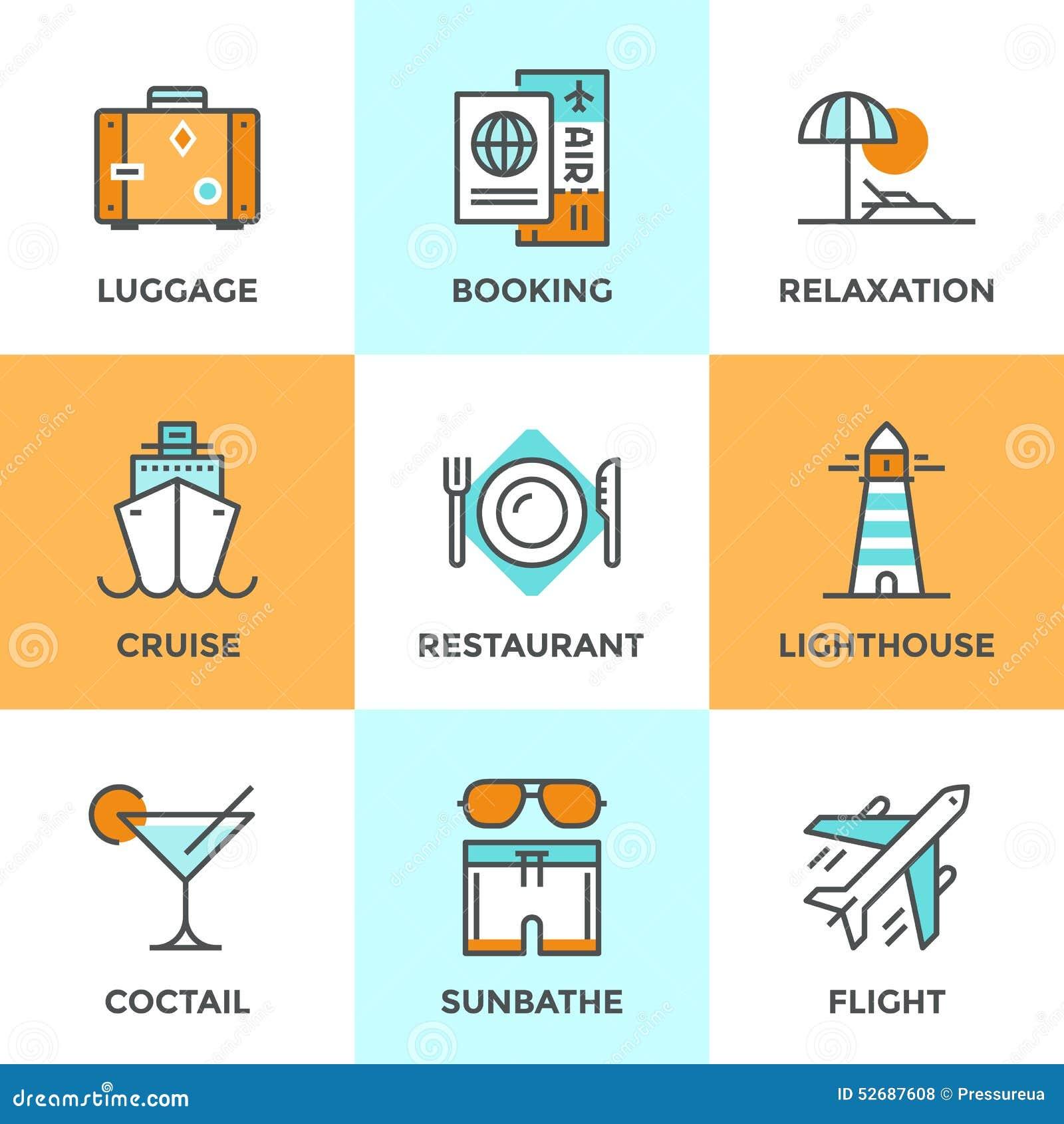 旅行和假期线被设置的象