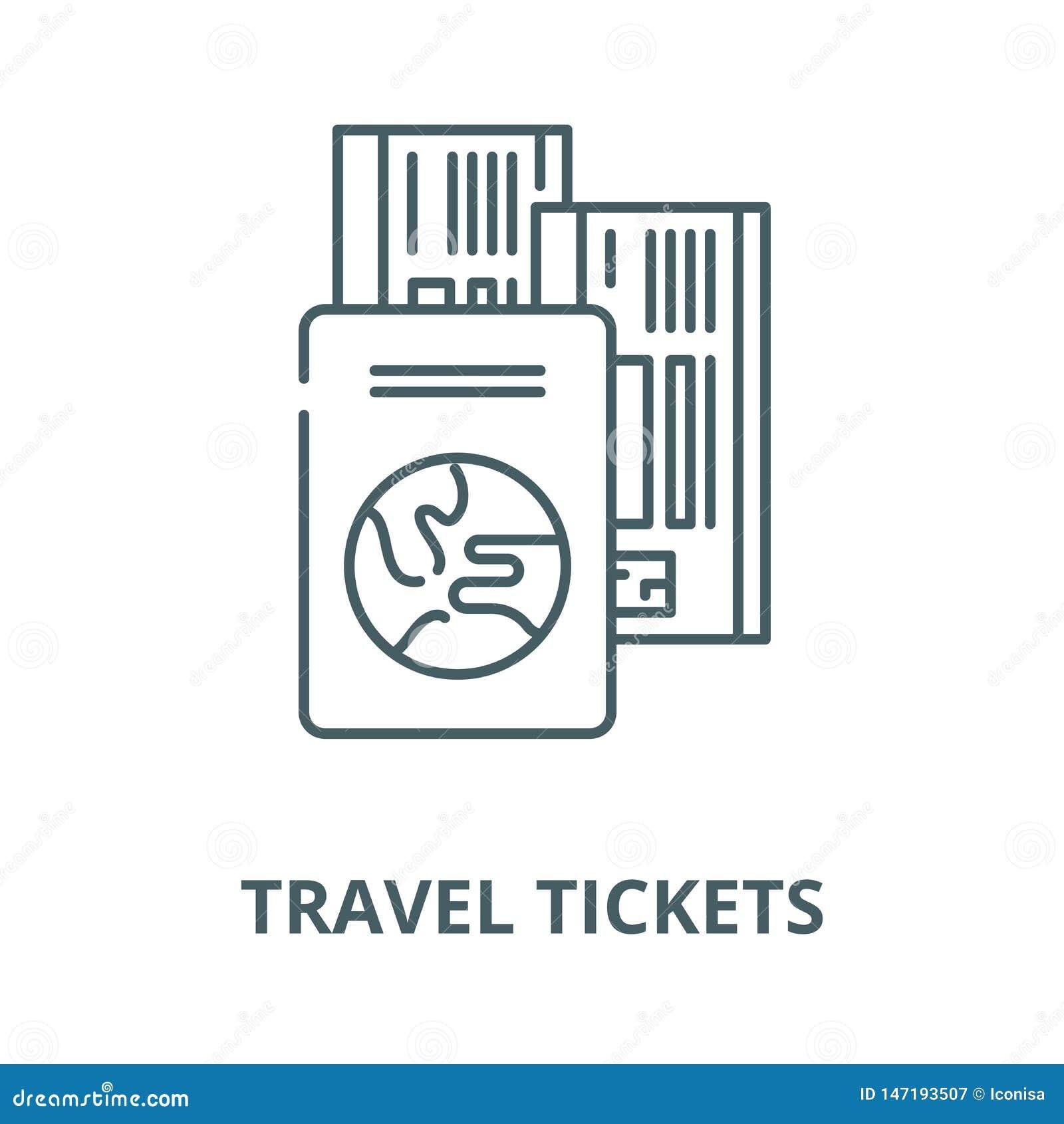 旅行票导航线象,线性概念,概述标志,标志