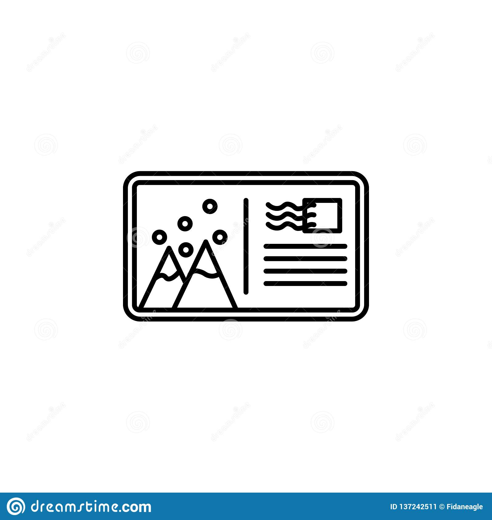 旅行,山,吃了,雪概述象 旅行例证的元素 标志和标志象可以为网,商标,机动性使用