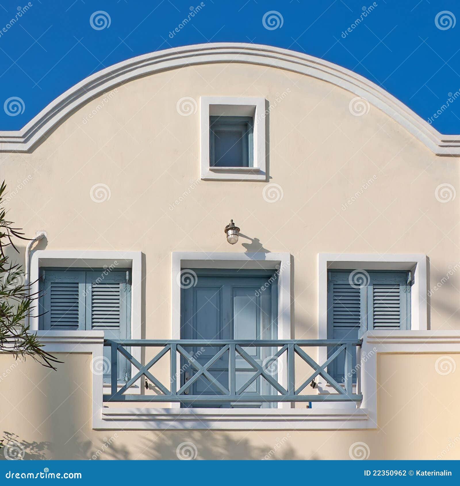 旅馆房子santorini
