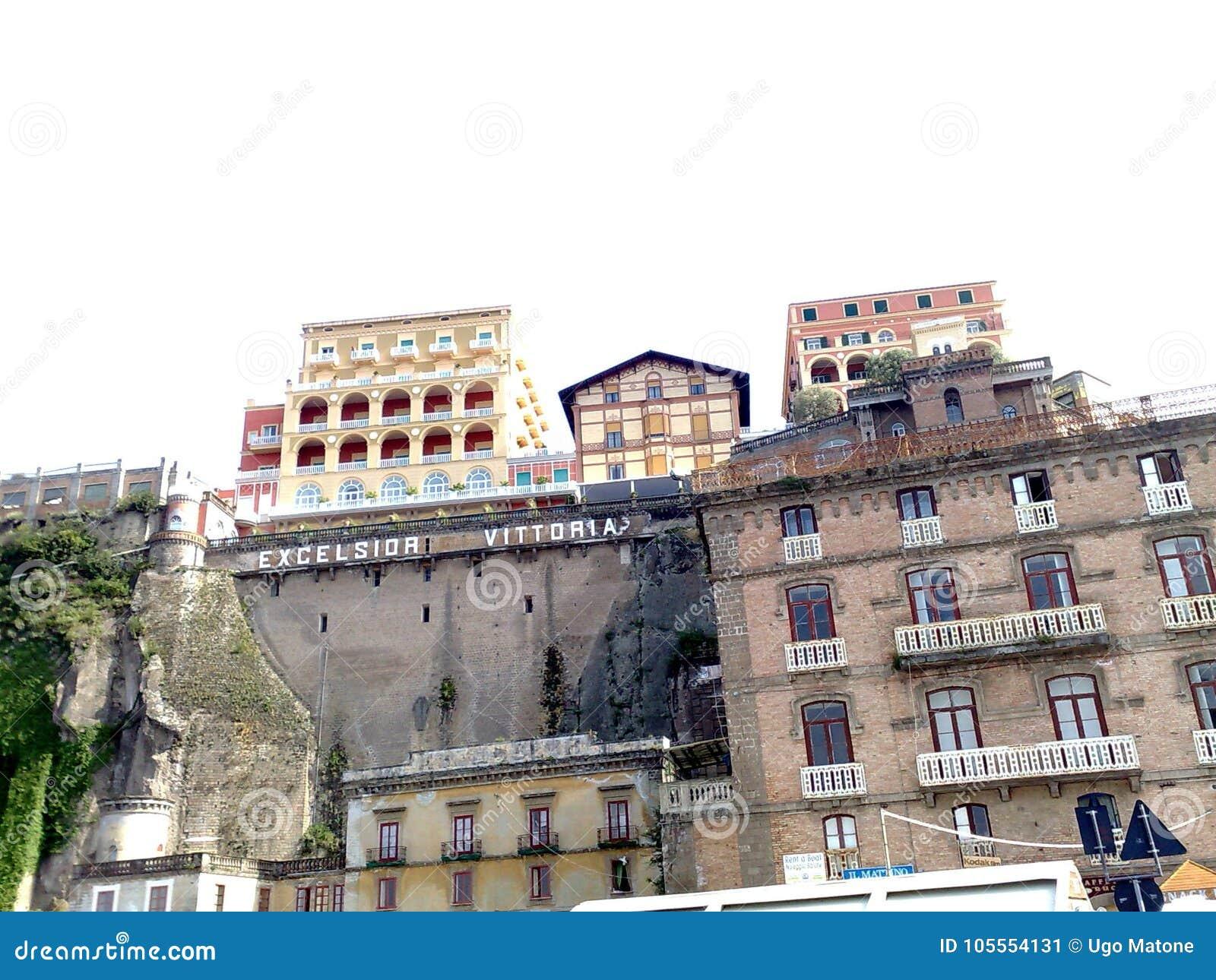 旅馆细刨花从口岸的Vittoria索伦托