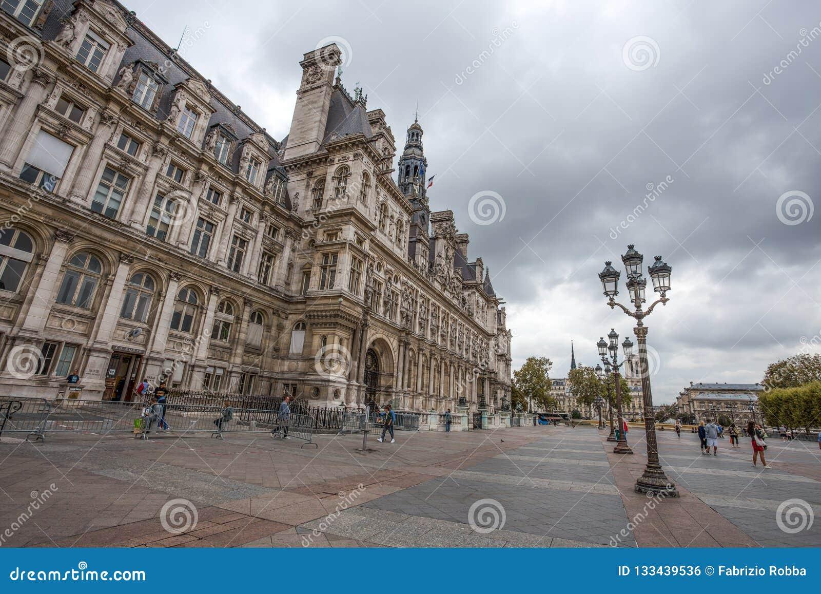 旅馆de韦莱,巴黎,法国政府大厦  这个大厦安置巴黎` s管理城市