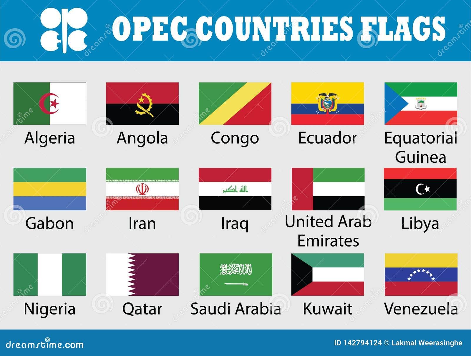 旗子套石油输出国组织国家