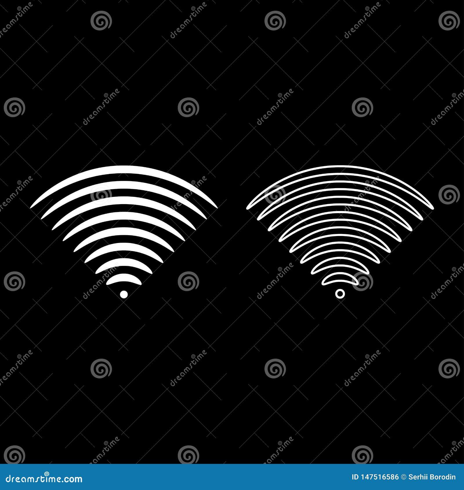 无线电波伴音信号一dirrection发射机象概述集合白色传染媒介例证平的样式图象