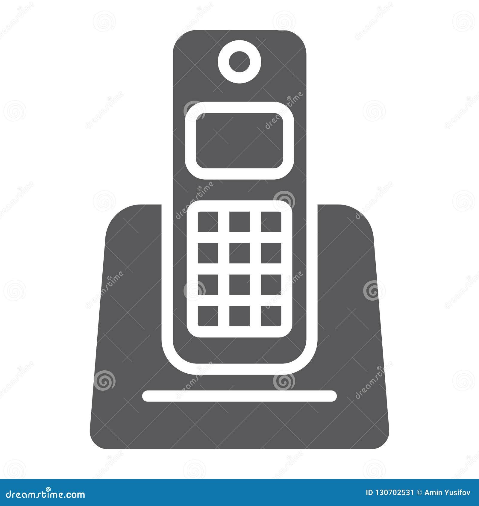 无线电话纵的沟纹象、装置和通信,电话标志,向量图形