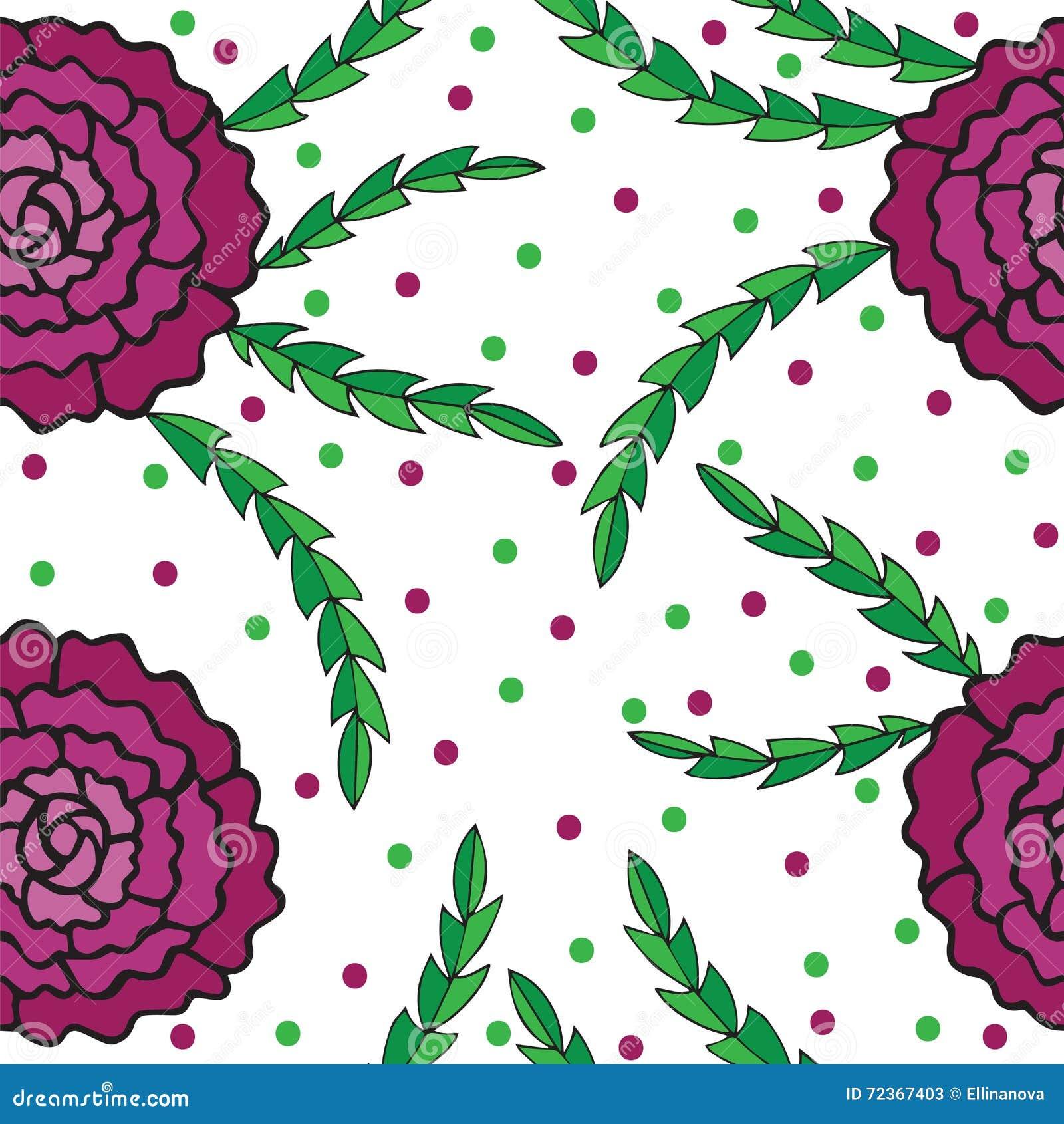 无缝与花和五颜六色的圈子