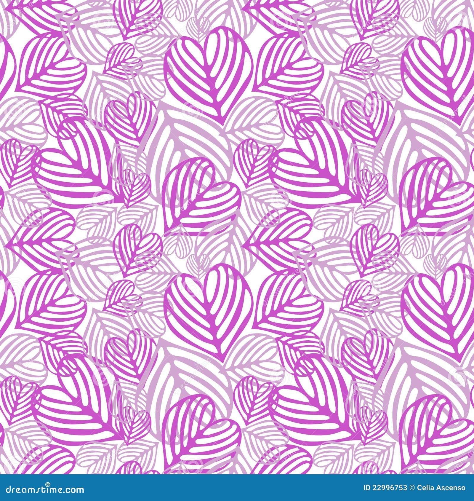 无缝划分为的叶子的粉红色