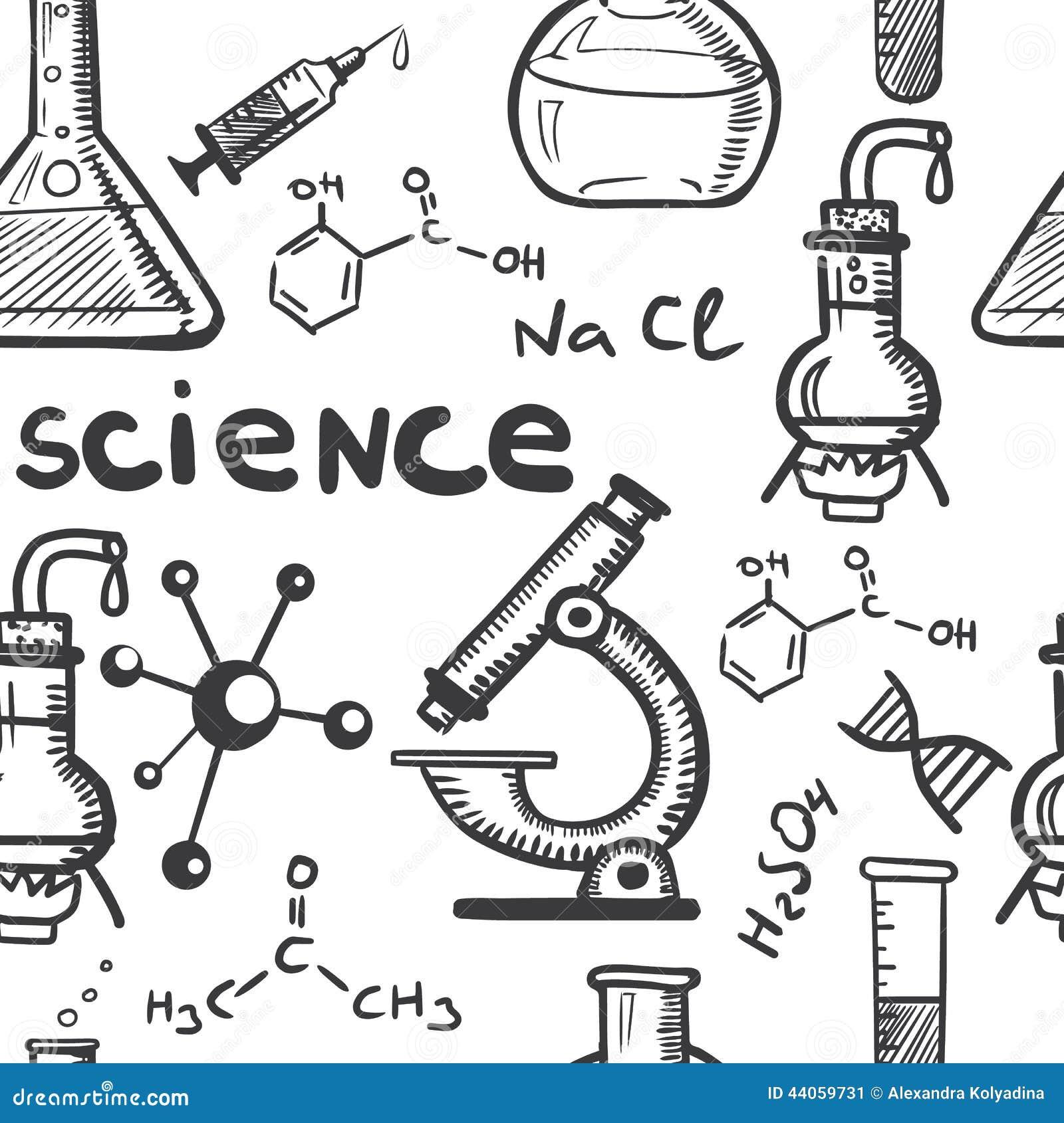 draving化学和科学概念无缝的手.