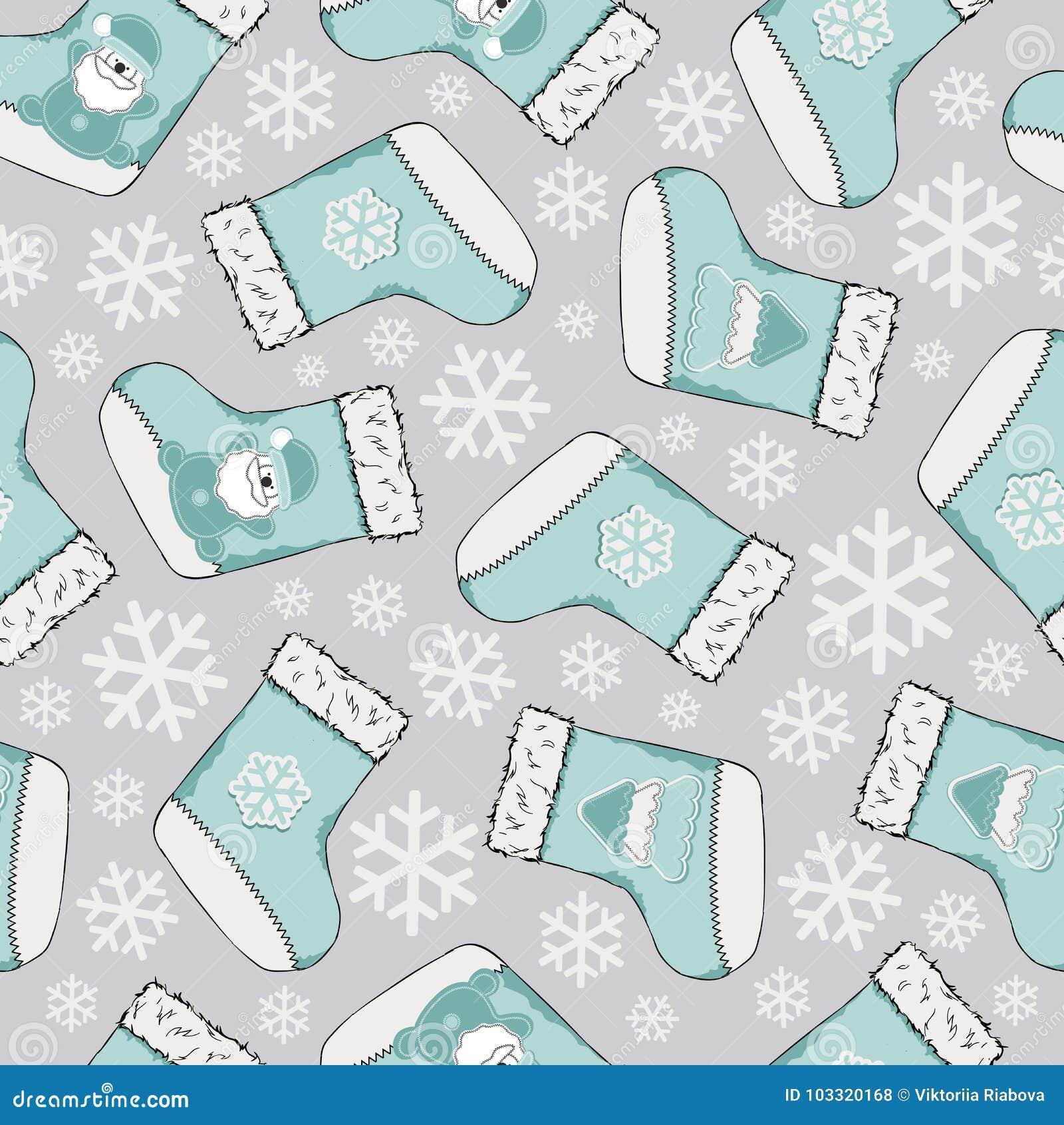 无缝圣诞节的模式 圣诞快乐设计 它可以为墙纸,网页和其他使用 也corel凹道例证向量