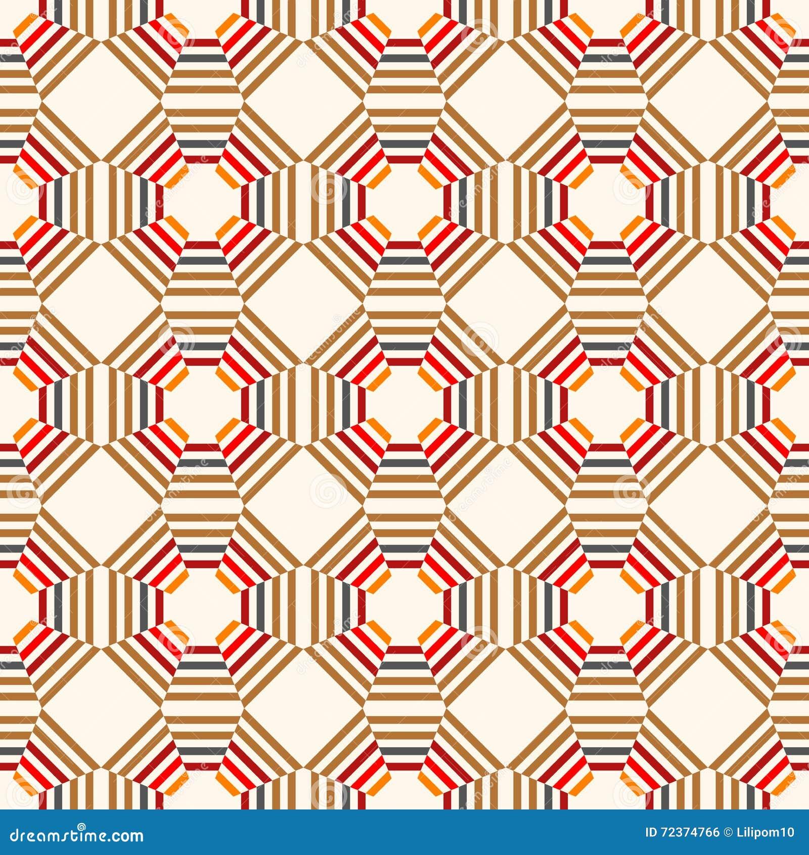无缝抽象几何的模式 装饰的背景 也corel凹道例证向量