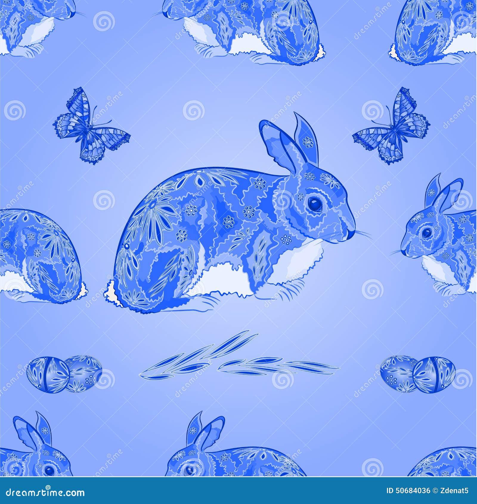 Download 无缝的与蝴蝶传染媒介的纹理复活节蓝色兔宝宝 向量例证. 插画 包括有 复活节, 宗教信仰, 本质, 春天 - 50684036