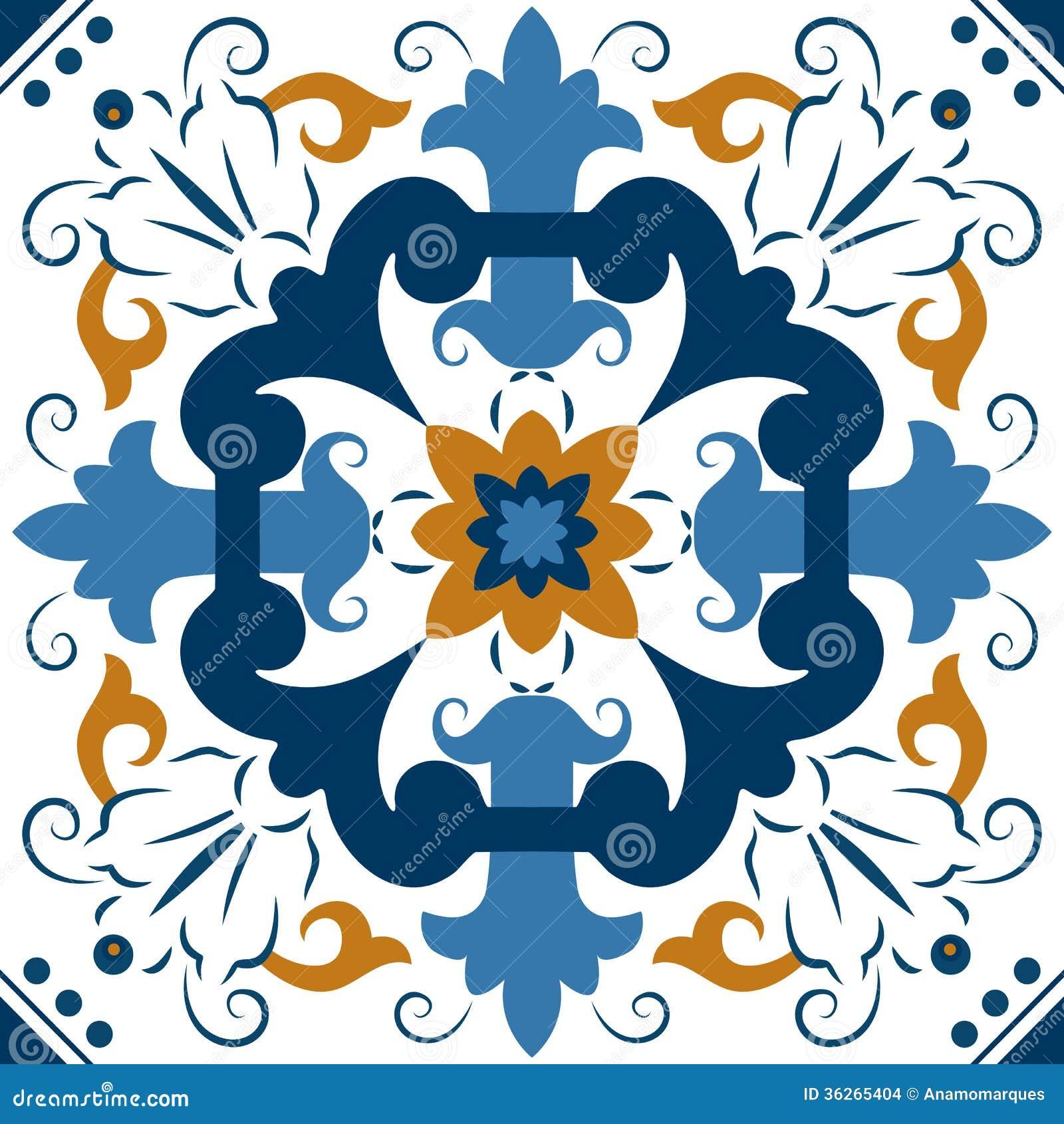 无缝的五颜六色的装饰品瓦片