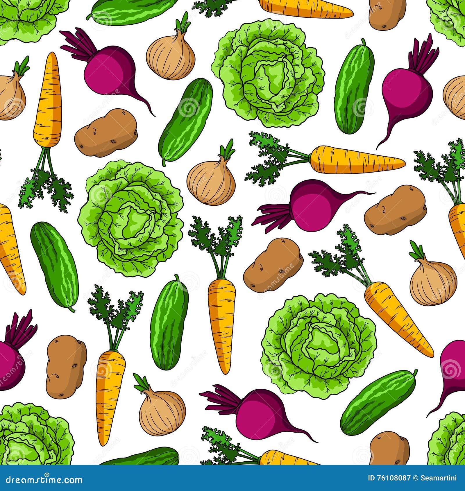 无缝的健康农厂菜样式