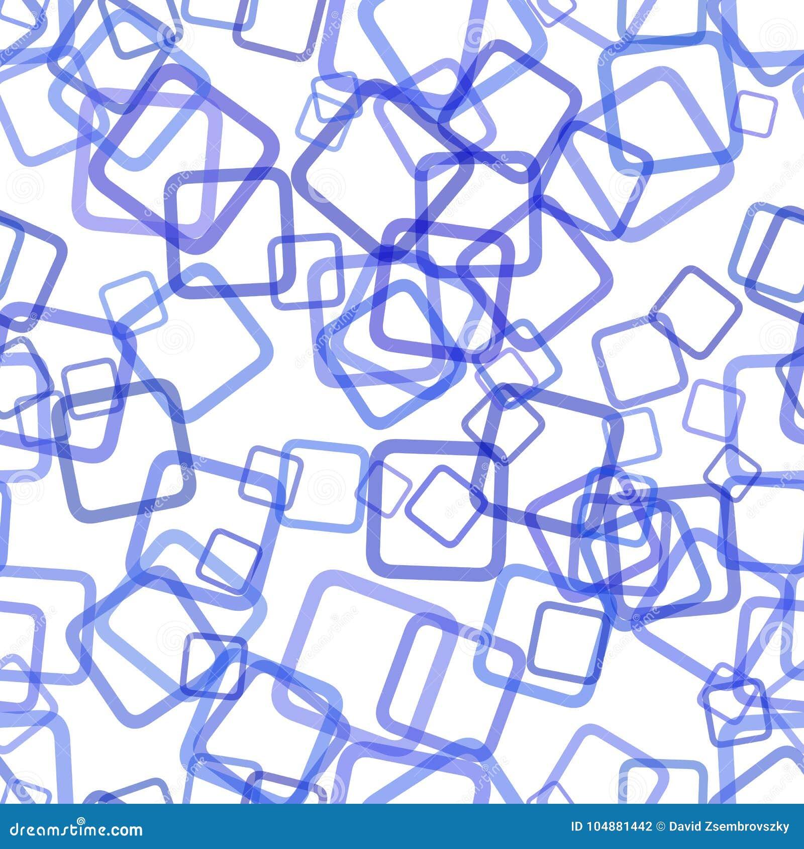 无缝的抽象几何方形的样式背景-导航从被转动的正方形的例证与不透明作用