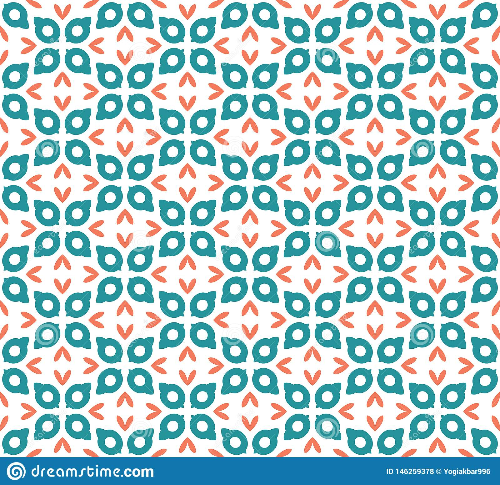 无缝的抽象花卉样式 对称现代样式