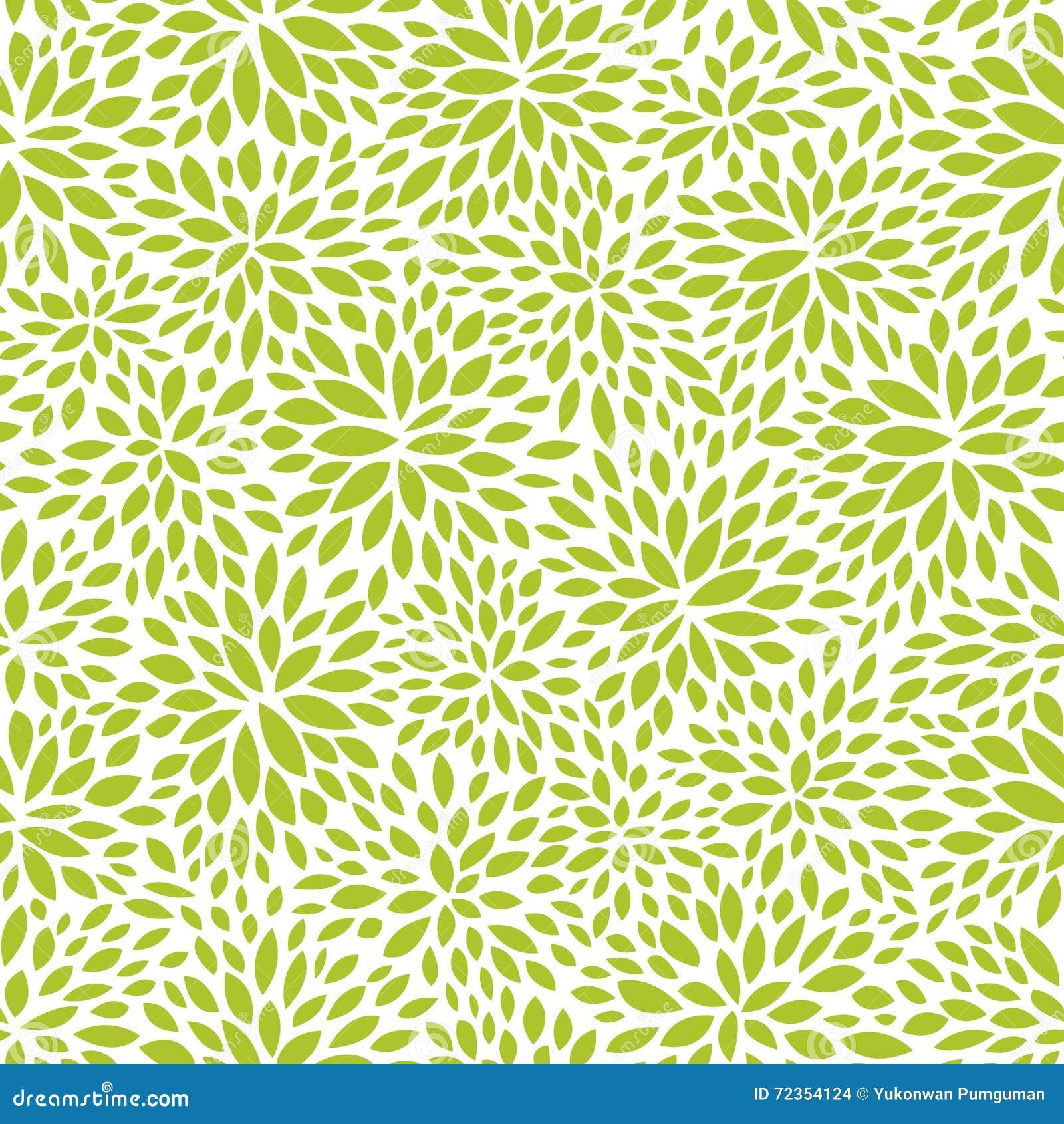 无缝的抽象绿色叶子样式,叶子传染媒介