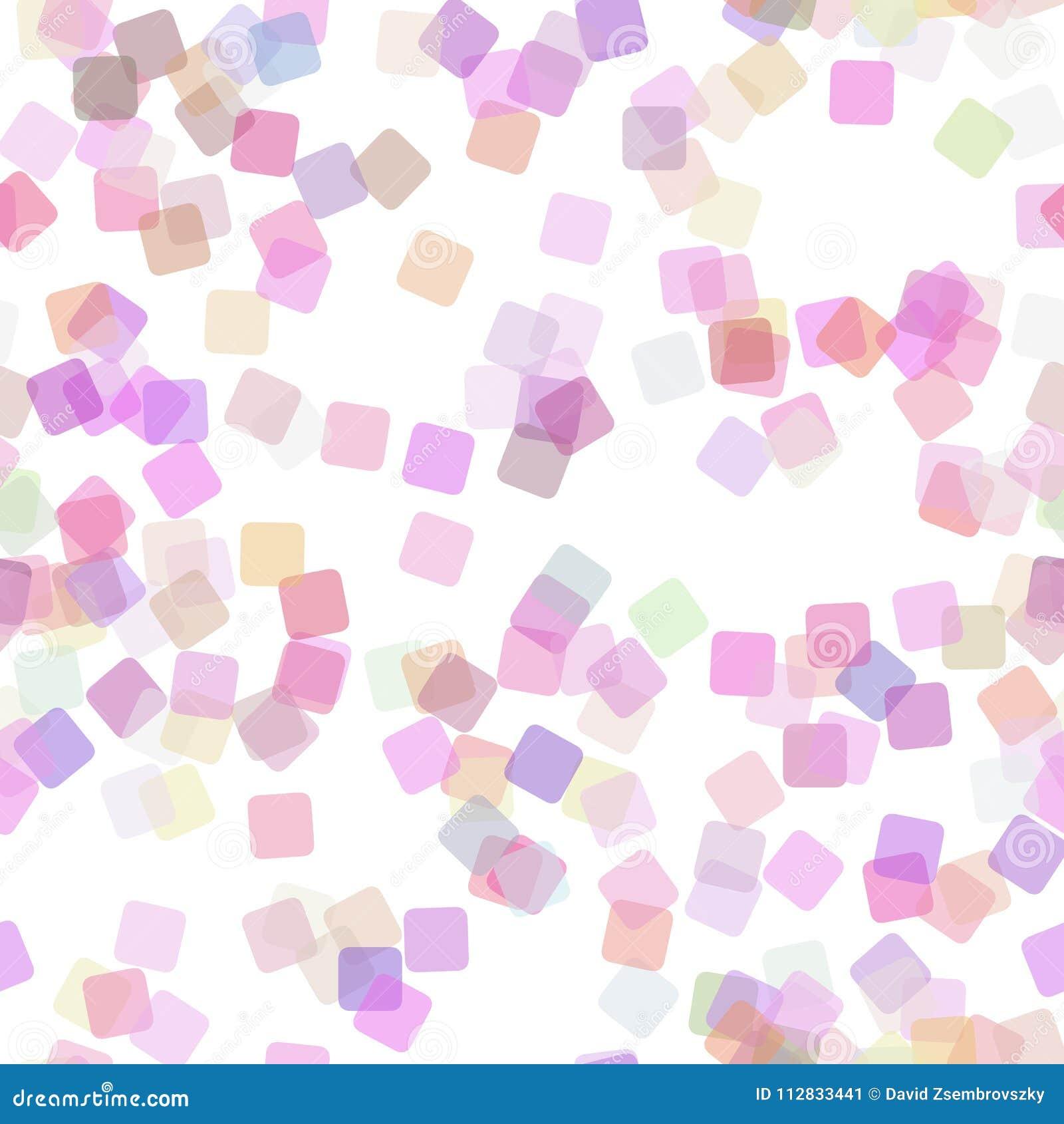 无缝的方形的样式背景-导航从任意被转动的正方形的例证与不透明作用