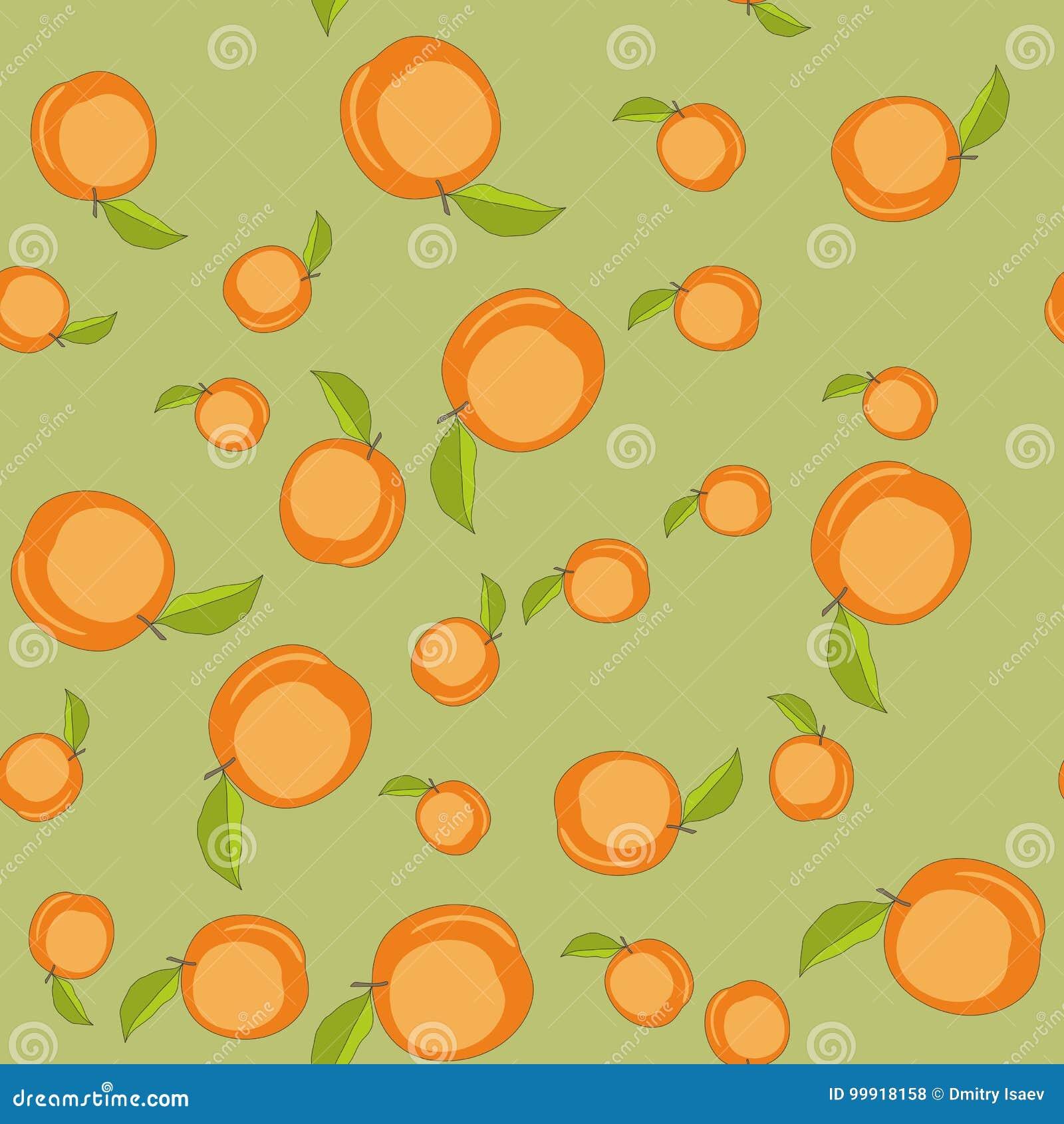 无缝的样式用动画片桃子 重复背景的果子 不尽的印刷品纹理 墙纸593