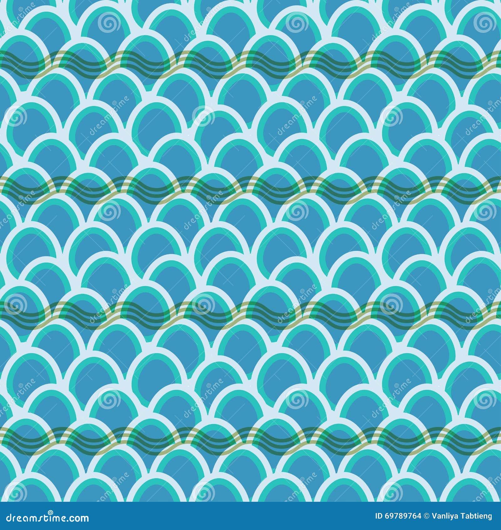 无缝的波动图式背景