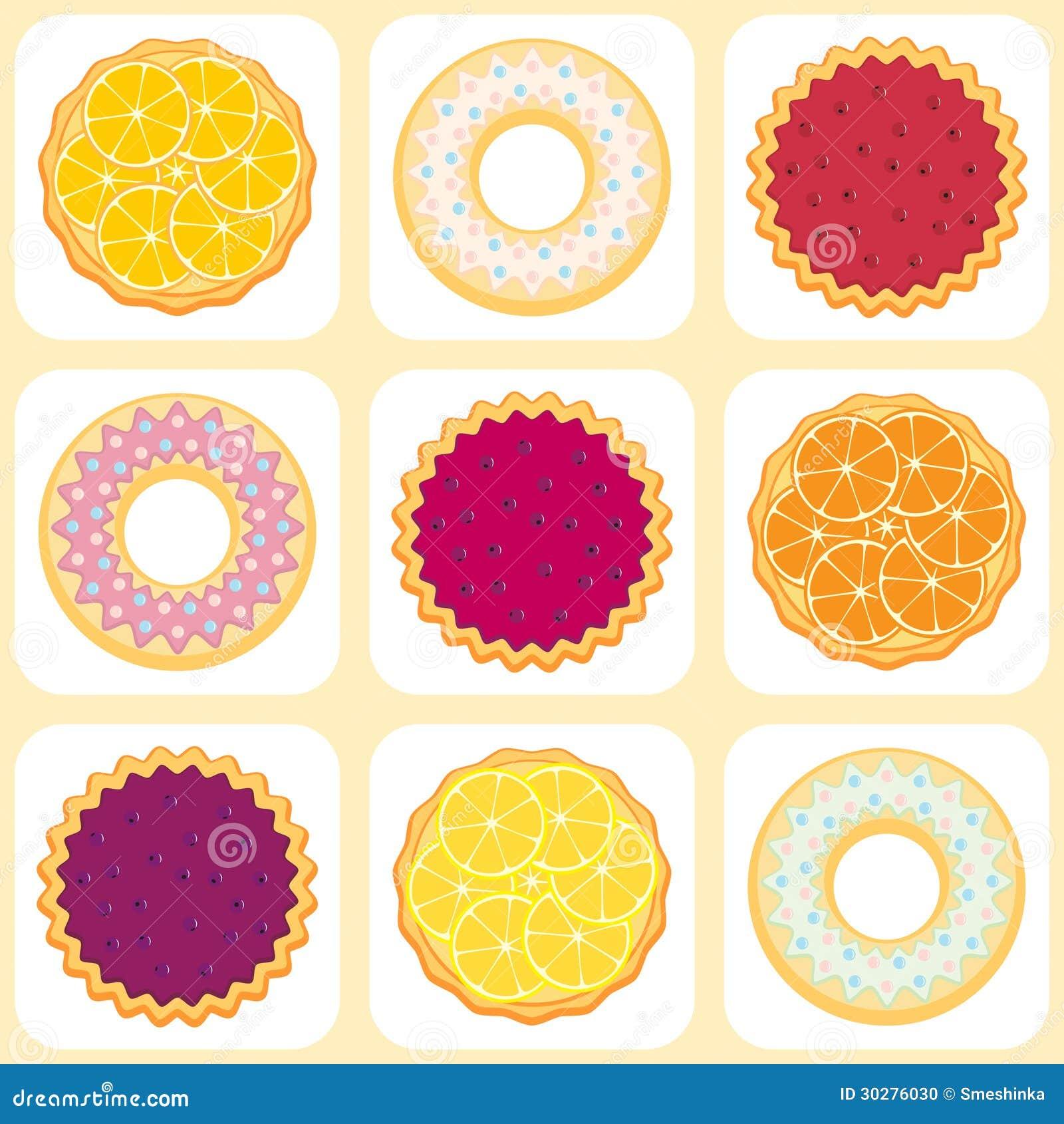 无缝的样式用果子饼和馅饼