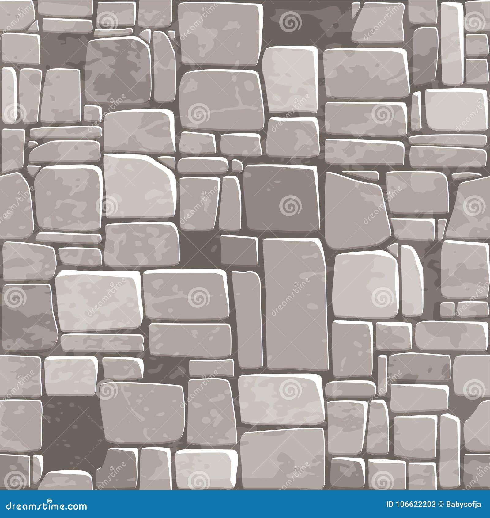 无缝的背景纹理灰色石墙 Ui比赛元素的传染媒介例证